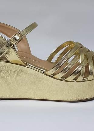 Sandalias feminina plataforma ana hickman salto 8cm