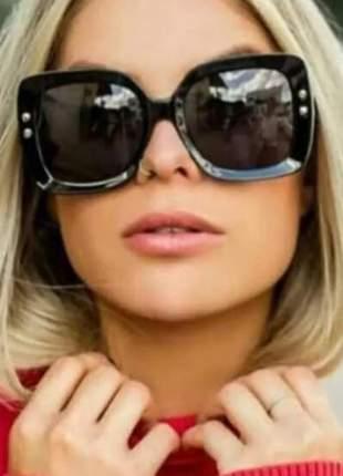 Óculos de sol feminino black quadrado oluxo