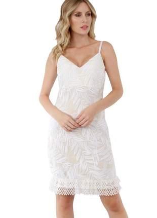 Vestido curto de festa branco