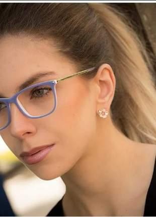 Armação óculos grau feminino av 172-v acetato original