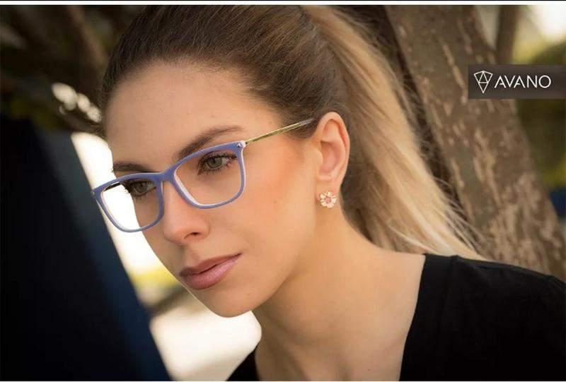 269742e0c Armação óculos grau feminino av 172-v acetato original - R$ 165.00 ...