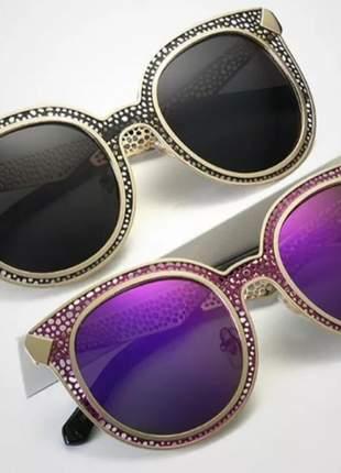 c1342f144 Óculos de sol feminino gatinho quadrado espelhado luxo 2018