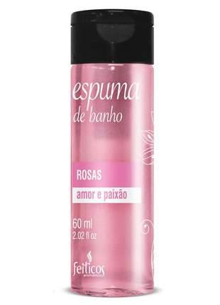 Espuma de banho para hidromassagem rosas - 60 ml