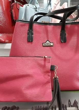db77d5b35 Bolsa + necessaire schutz - R$ 130.00 (tipo saco, dourada, de couro ...