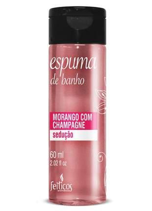 Espuma de banho para hidromassagem morango com champagne - 60ml