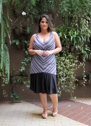 Vestido estampado plus size