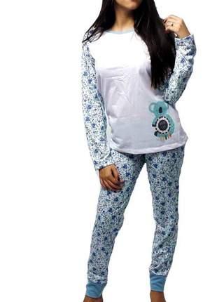Pijama feminino conjunto raglan coala outono/inverno 007