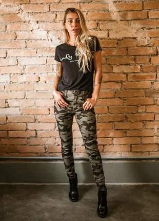 Calça camuflada skinny - lady rock