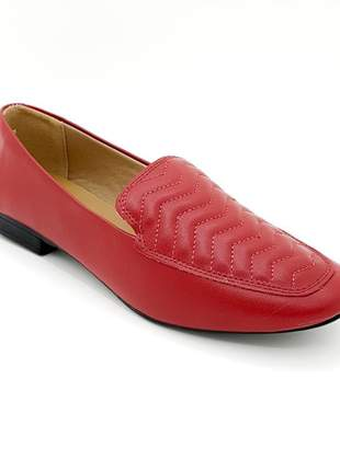 Mocassim feminino vermelho