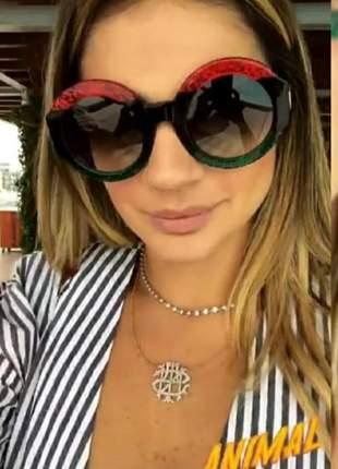 Óculos para mulher nova coleção redondo grande grife