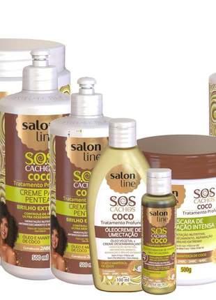 Salon line sos cachos coco completo s/ parabenos* 9 itens