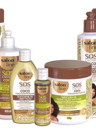 Salon line sos cachos coco tratamento completo 07 produtos frete gratis*