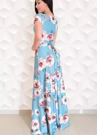 Vestido longo primavera floral