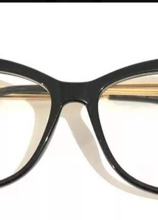 Armação feminina óculos catinho chic novo