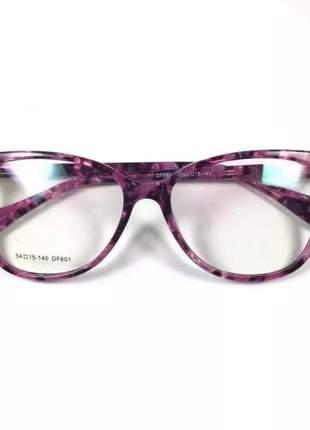 Armação óculos de grau feminino original acetato ale df 601