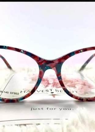 Armação óculos de grau feminino acetato ale df607 07