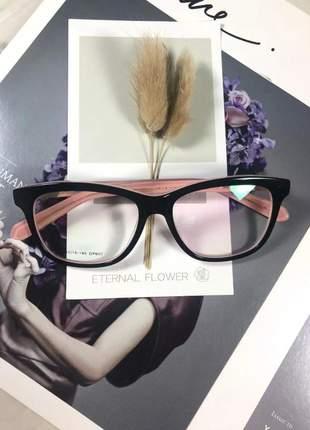 Armação óculos grau feminino original acetato ale df 607