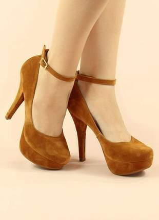 Sapato meia pata boneca salto fino