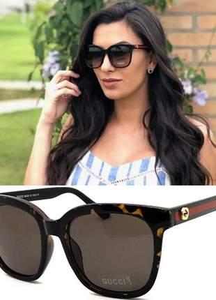 Óculos de sol proteção solar uv 400 gg034 quadrado