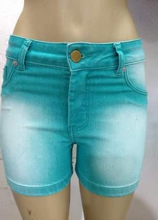 Shorts jeans verde agua