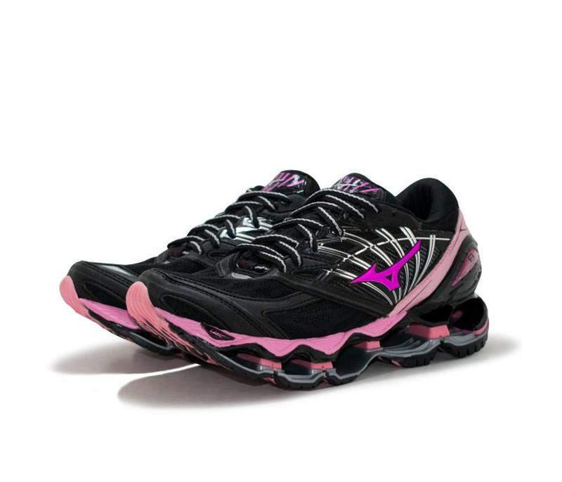 Tênis mizuno wave prophecy 8 preto e rosa R$ 199.90 | SHAFA O melhor da moda feminina
