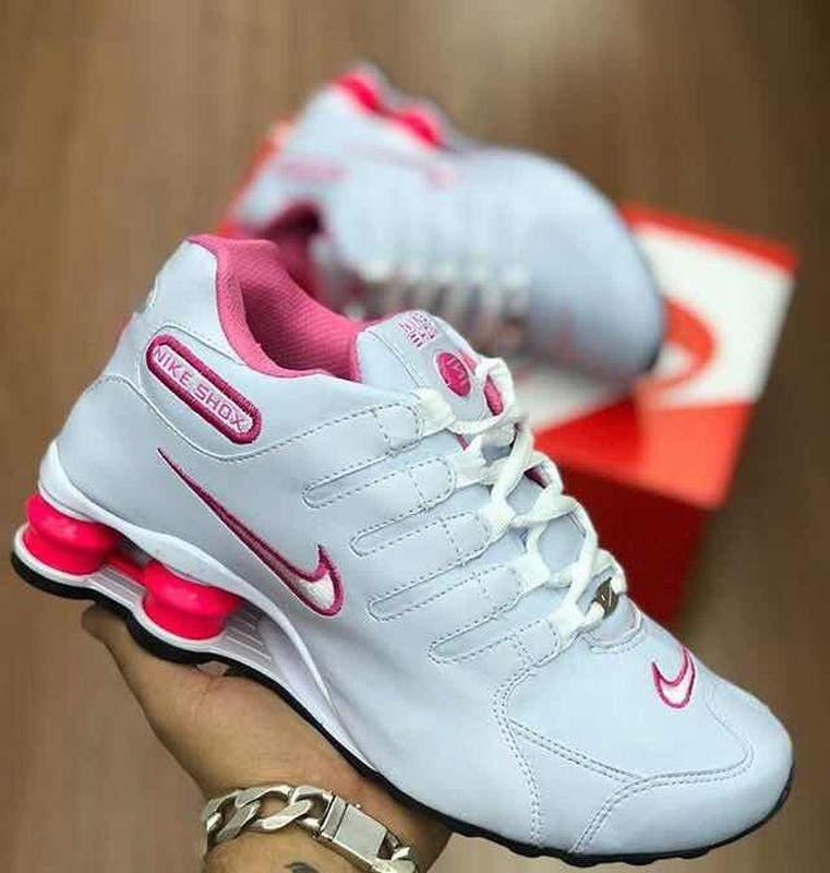 b565fa3368 Nike shox nz feminino 4 molas branco rosa - R$ 164.90 #20285, compre ...