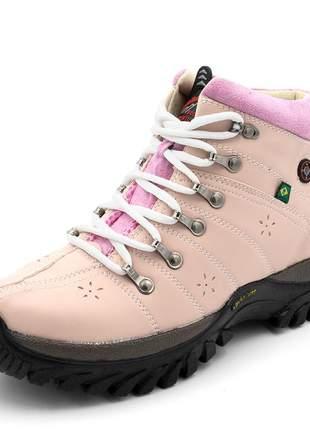Coturno tênis adventure feminino adulto e infantil rosa/rosa