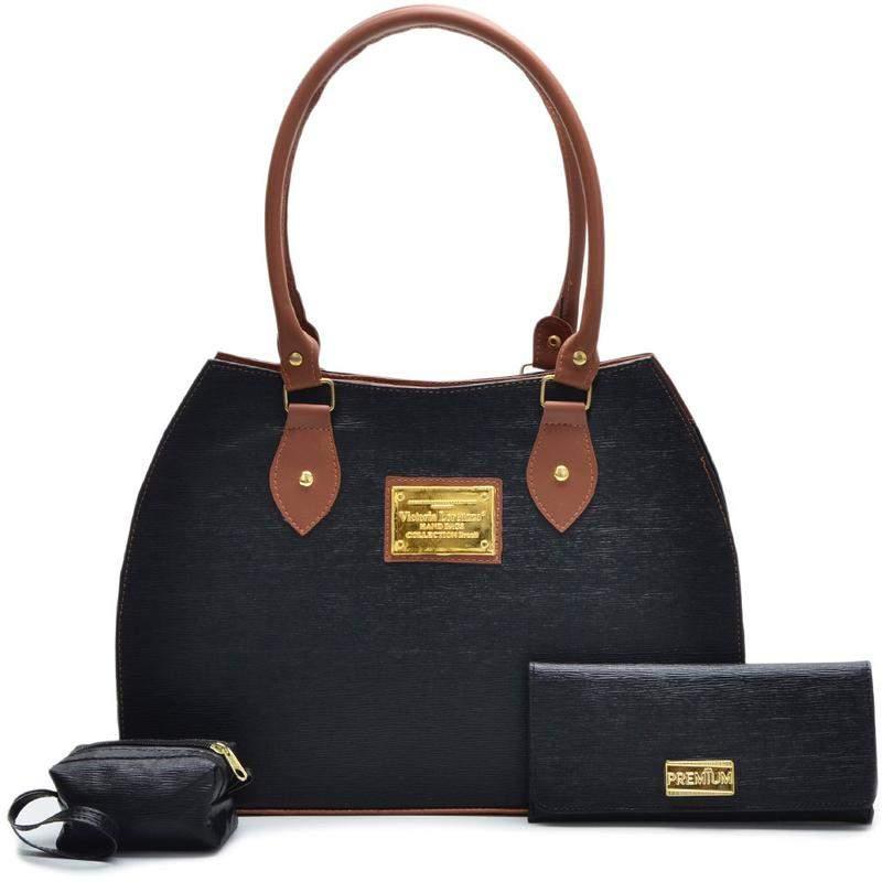 La Trousse de sac à main +portefeuille + bourse de pièce de monnaie noir
