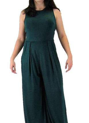 Macacão feminino longo pantalona social