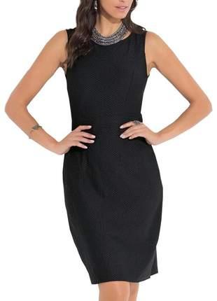 Vestido curto quintess preto sem manga