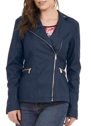 Jaqueta feminina material sintético casaco inverno
