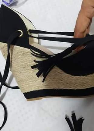 Sandálias femininas anabela