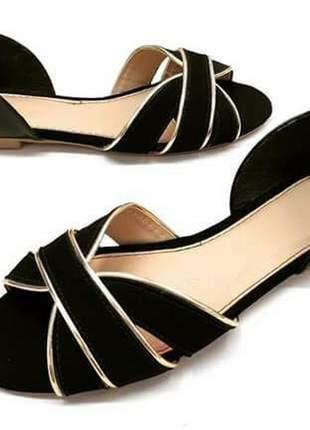 Sandália feminina rasteira  salomé