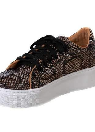 Tênis butique de sapatos animal print piton - 1020