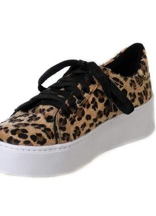 Tênis butique de sapatos animal print onça - 1020