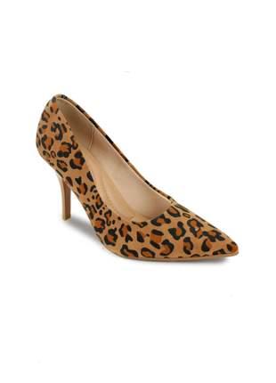 cc3144b7c0 Sapato scarpin beira rio animal print