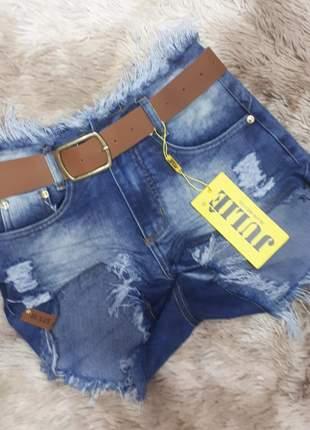 Short jeans cintura alta da julie promoção verão 2019
