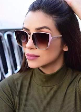 e67479c6e Oculos de sol feminino marrom com dourado - R$ 119.90 (com proteção ...