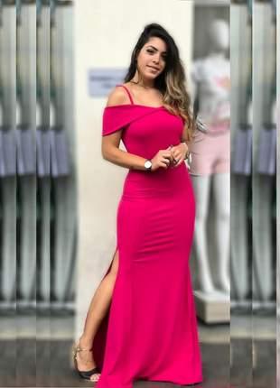 Vestido longo rosa pink
