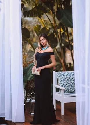 Vestido de festa  sereia - formatura - preto
