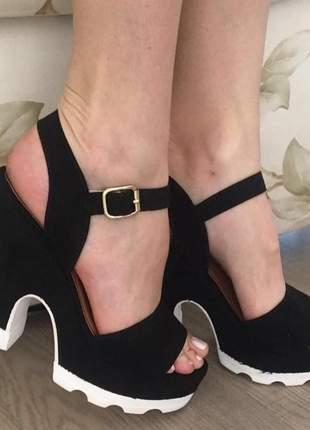 Sandália salto alto feminino  aberto - promoção