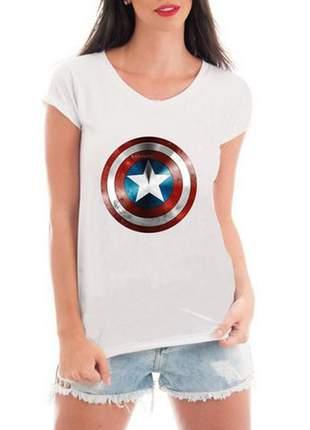 Camiseta feminina capitão américa