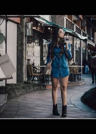 Camisão/vestido jeans