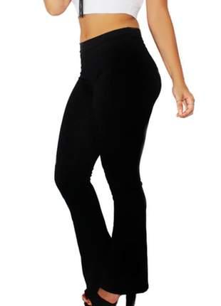 Calça legging flare preta ref: cl0002