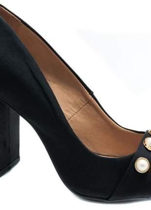 Sapato peep toe salto bloco