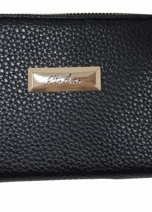 Carteira feminina pequena elegance - preta - rita acuio