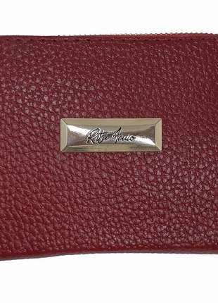 Carteira feminina pequena elegance - vermelha - rita acuio