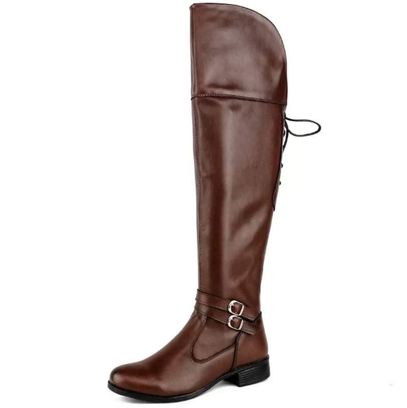 7e29e9622683 Bota feminina over the knee - marrom - R$ 109.00 | SHAFA - O melhor da moda  feminina