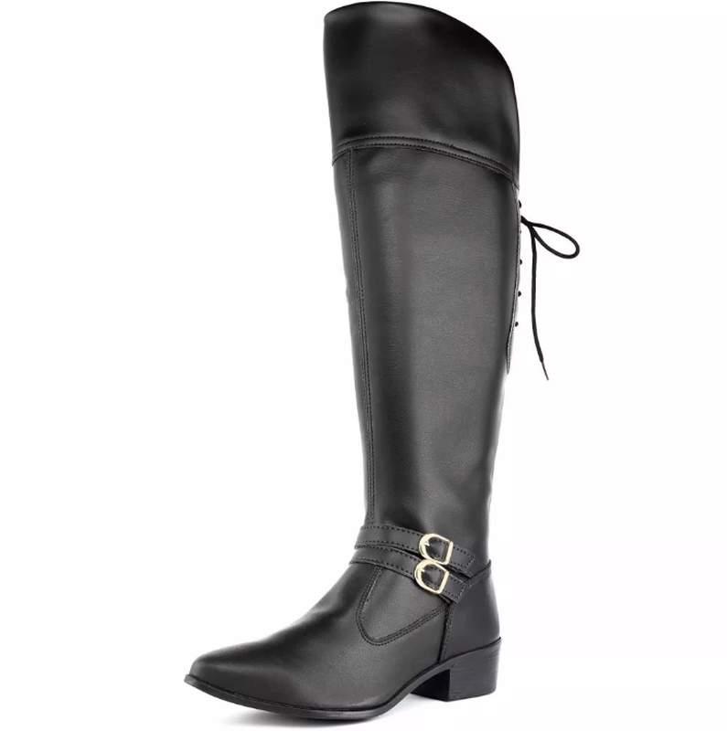 ba48a1117226 Bota feminina over the knee - preta - R$ 109.00 | SHAFA - O melhor da moda  feminina