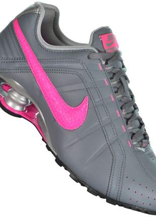 Tênis nike shox feminino classic prata/rosa